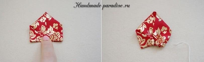 цветы из лент для украшения заколки для волос (3)