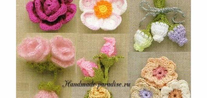 100 цветов крючком. Схемы