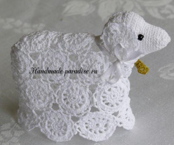 Пасхальные овечки крючком (13)