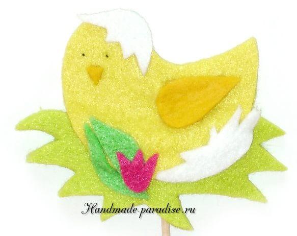 Детский пасхальный декор из фетра (9)
