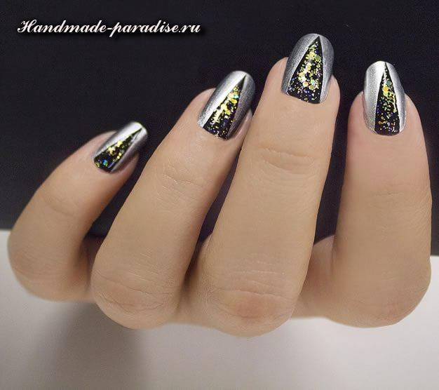Дизайн ногтей с геометрическим рисунком