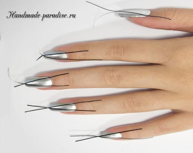 Дизайн ногтей с геометрическим рисунком (3)