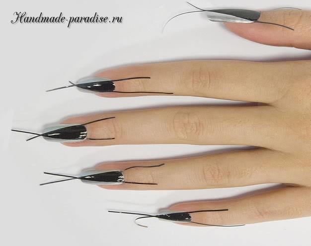 Дизайн ногтей с геометрическим рисунком (4)