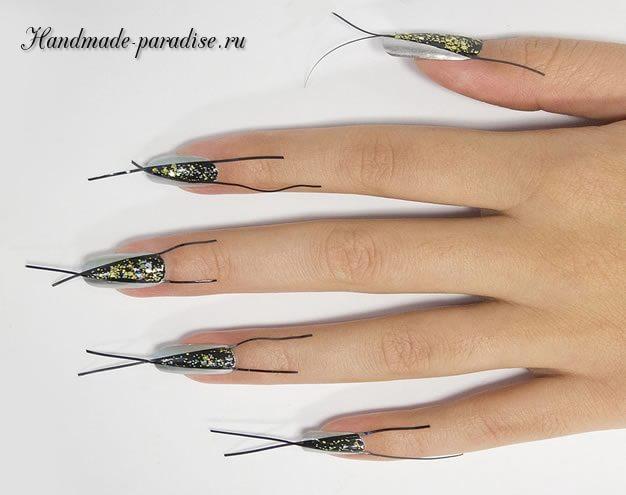 Дизайн ногтей с геометрическим рисунком (5)