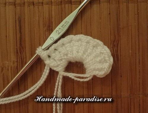 Игольница крючком пышными столбиками (2)