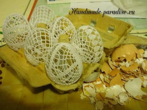 Как крахмалить вязаные пасхальные яйца (2)