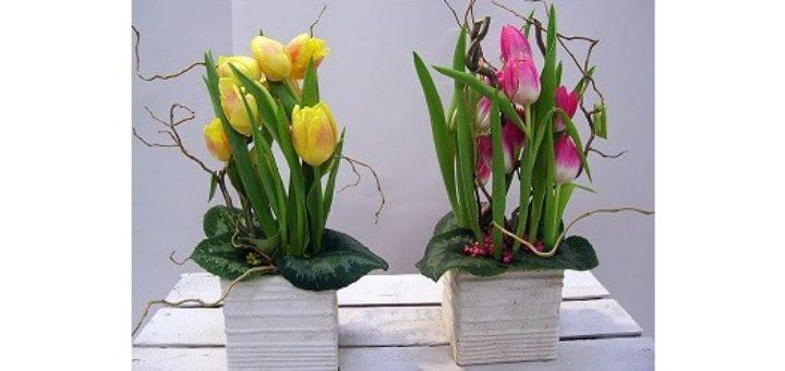 Как создать оригинальную композицию из живых цветов