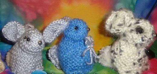Как связать кролика спицами
