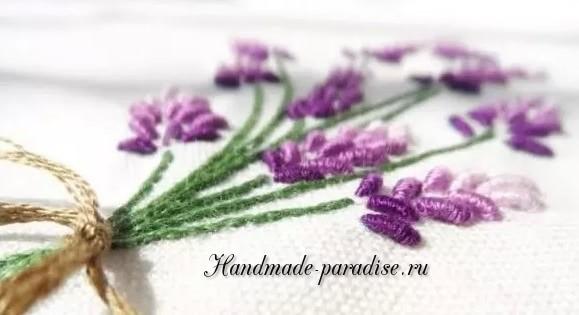 Как вышивать лаванду (2)
