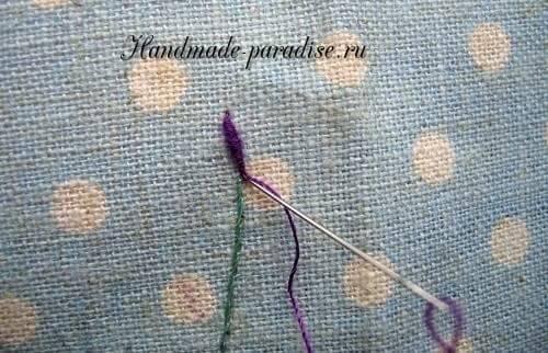 Как вышивать лаванду (10)