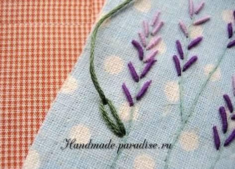 Как вышивать лаванду. Мастер-класс (13)