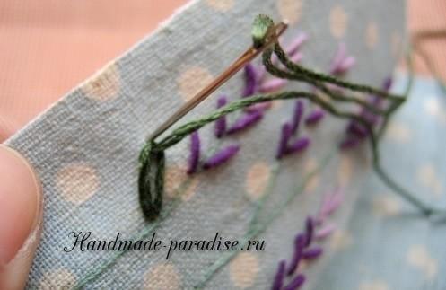 Как вышивать лаванду. Мастер-класс (14)