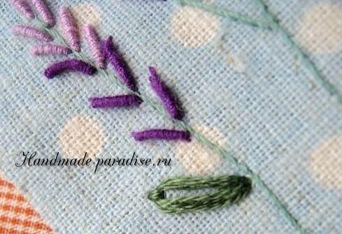 Как вышивать лаванду. Мастер-класс (15)