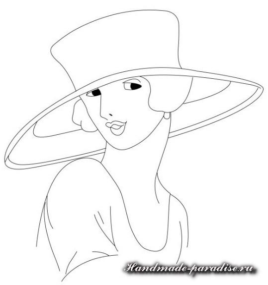 Коробочка с дамой в технике кинусайга (11)