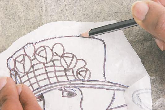 Коробочка с дамой в технике кинусайга (2)
