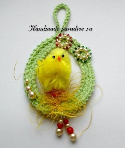 Пасхальное яйцо - подвеска крючком (2)