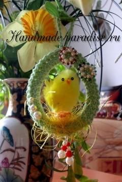 Пасхальное яйцо - подвеска крючком (5)