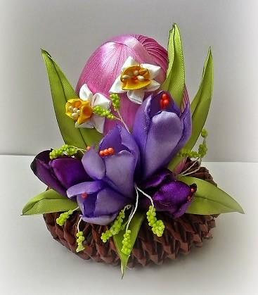 Пасхальные яйца с шелковыми тюльпанами (11)