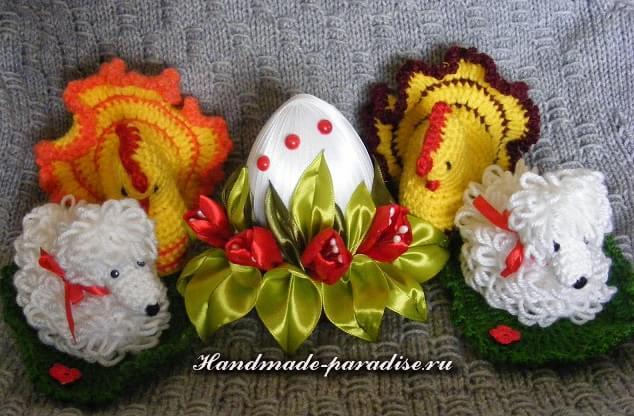 Пасхальные яйца с шелковыми тюльпанами (14)