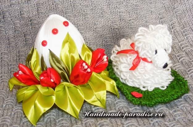 Пасхальные яйца с шелковыми тюльпанами (15)