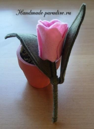 Тюльпан из фетра (3)
