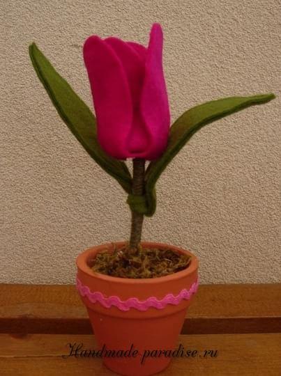 Тюльпан из фетра (4)