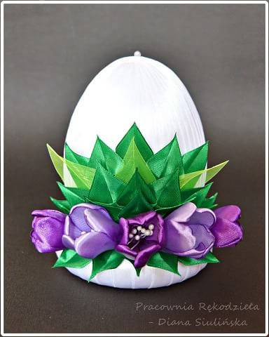 Пасхальные яйца с шелковыми тюльпанами (8)