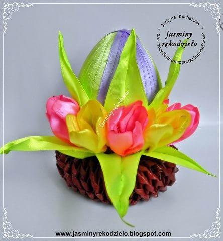 Пасхальные яйца с шелковыми тюльпанами (9)
