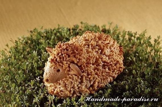 Пасхальный ягненок из соленого теста (11)