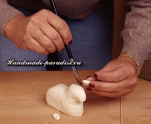 Пасхальный ягненок из соленого теста (6)