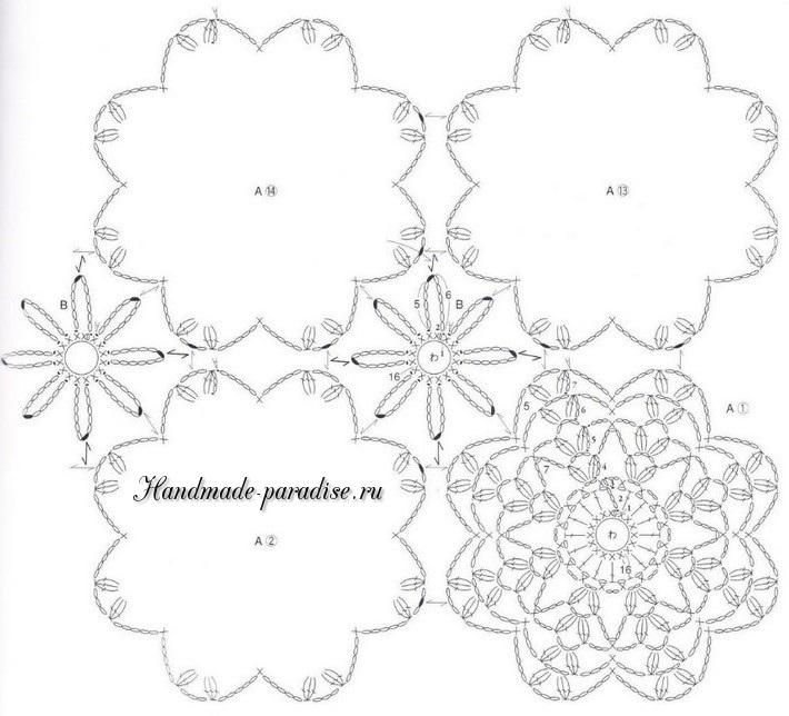Схема пледа крючком из круглых мотивов (4)