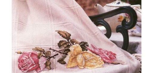 Розы. Схемы вышивки крестом