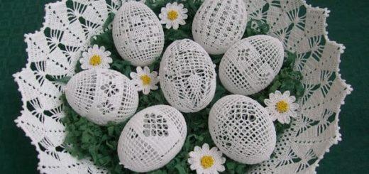 Схемы обвязки крючком пасхальных яиц