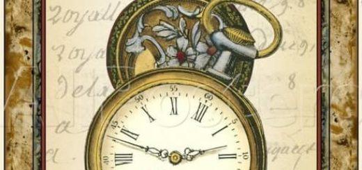 Циферблаты часов для декупажа