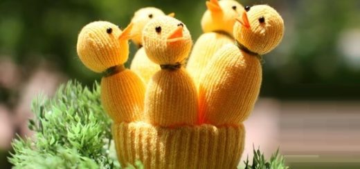 Цыплята из перчатки. Мастер-класс