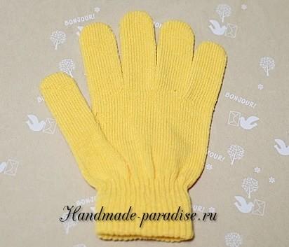 Цыплята из перчатки. Мастер-класс (2)