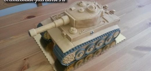 Танк - 3D торт из марципана
