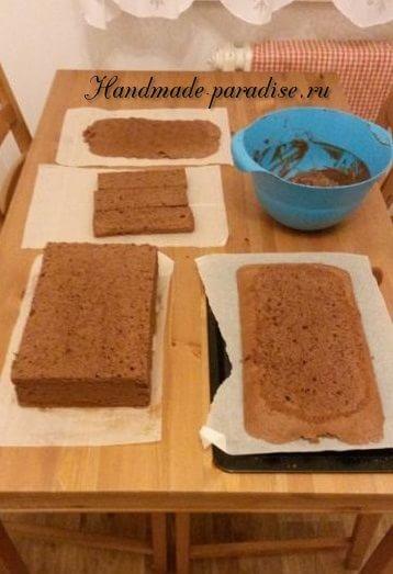 Танк - 3D торт из марципана (2)