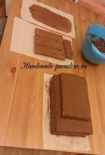 Танк - 3D торт из марципана (3)