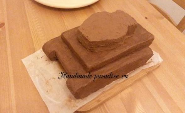 Танк - 3D торт из марципана (6)
