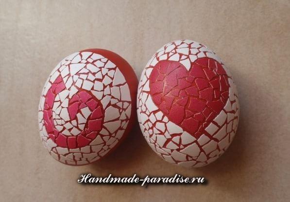 Яичное кракле на пасхальных яйцах (9)
