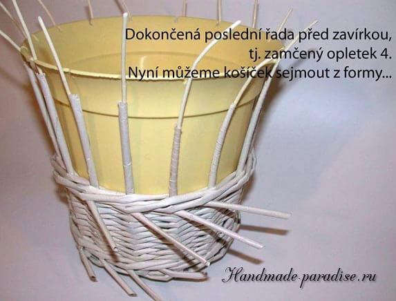 плетение из газет. корзинка пасхальный заяц (1)