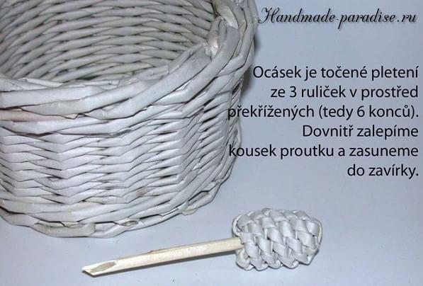 плетение из газет. корзинка пасхальный заяц (12)