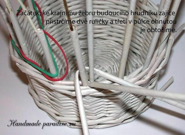 плетение из газет. корзинка пасхальный заяц (3)