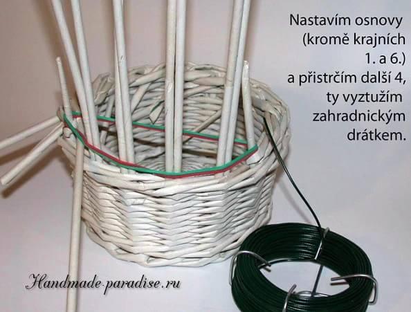 плетение из газет. корзинка пасхальный заяц (6)