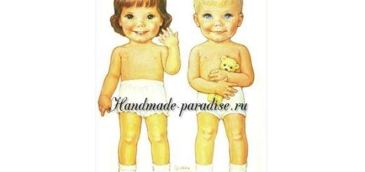 Бумажные куклы с одеждой для вырезания