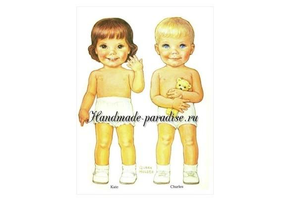 Игрушки куклы-мальчики. Бумажная кукла-мальчик с одеждой
