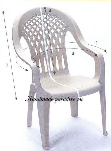 Как сшить чехол для пластикового стула (2)