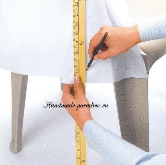 Как сшить чехол для пластикового стула (7)