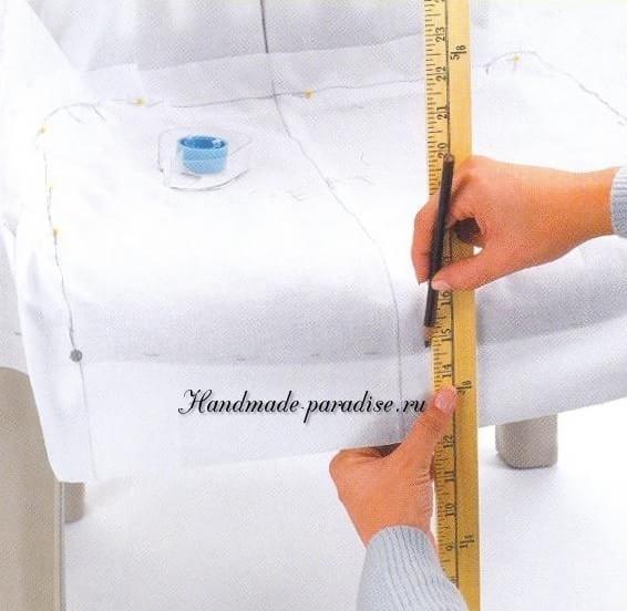 Как сшить чехол для пластикового стула (8)